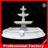 Hand Carved White Marble Garden Fountain