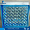 Blue Lattice Glass Block for Decoration