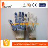 Ddsafety 2017 Cotton Polyester String Knit Glove Blue Water Wave PVC One Side