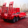 2axle Low Loader Semi Trailer with Rear Ramp