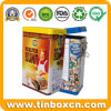 Airtight Coffee Tin Box with Food Grade, Rectangular Metal Tin