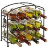 Modern Design 12 Bottle Metal Wine Storage Shelf 3 Tier