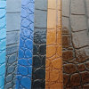 Bright Color Crocodile PVC Leather for Bags Chairs Decoration