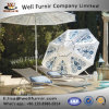 Well Furnir Usage Confortable Design Chaise Lounges with Parasol