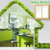 Hot Selling Gliding Windows with Double Glazed by China Supplier with Powder Coating/Fluorocarbon/Wood Grain Finish