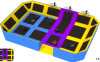 Large Indoor Trampoline with Basketball, Ball Pool, Foam Pit, Dodgeball Arena