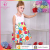 Colorful Patterns Girl Dress, Baby Frock with Special Design in The Back