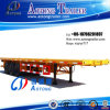 3 Axle 50t Container Flat Low Bed Semi Trailer (suitable for 48 feet container) (LAT9371TJZG)