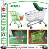 Steel Zinc Plated European Style Shopping Cart Trolley