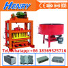 Qtj4-40 Brick Making Machine Price with Concrete Mixer, Manual Concrete Block Making Machine