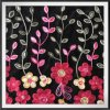 Chain Embroidery on Velvet Polyester Velvet Embroidery Chain Embroidery Fabric