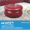 Modern Red Leather Ottoman