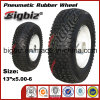 Good Quality 13X5.00-6 Tubeless Rubber Wheels for Trolley