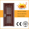 India Single Door in Door with Window Sc-S068