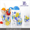 Printing 7PCS Drinking Glass Water Set