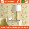 Floral Vinyl Wall Mural Wallpaper for Decoration Material