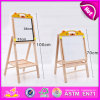 Good Quality Wooden Painting Board Stand for Kids, Double Sided Adjustable Flip Chart Painting Board Stand W12b086