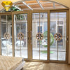 New Design Aluminum Double Tempered Glass Sliding Entrance Door