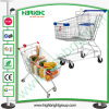 Asian Style Zinc Galvanized Shopping Cart