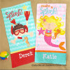 Kid′s Printed Velour Bath Towel Beach Towel in Good Design