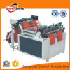 Two Lines Heat Sealing Heat Cutting PE Plastic Bag Making Machine