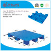 EU Size 1200*1000*140mm Plastic Pallet Flat Surface Shelf Rack Plastic Tray with 4 Steel Tubes for Warehouse Products