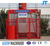 Sc100/100 1t Double Cages Construction Hoist for Building