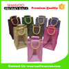 Resuable Single Jute Bottle Wine Tote Bag with Rope Handle