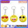 Fashion Metal Smile Emoji Charm Keychain for Gift
