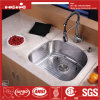 21X20 Inch Stainless Steel D Shape Single Bowl Kitchen Sink
