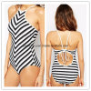 High Quality Sexy Bikini Striped Ladies Swimwear One-Piece Women Wear