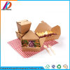 Folding Square Brown Kraft Paper Fast Food Packaging Box
