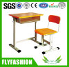 Durable Adjustable Wooden School Furniture Student Desk and Chair (SF-11S)