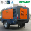 20bar Diesel Movable Mobile Screw Air Compressor for Stone Crusher