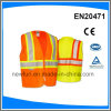 High Visibility Warning Vest with Zipper Fasten