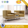 Modern Europe Design Steel Metal Leather Waiting Office Sofa (NS-S3011)