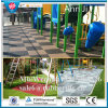 500*500mm Interlocking Rubber Floor Tiles, Rubber Gym Flooring with Pins