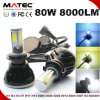 Car LED Conversion Kit H7 H4 LED Headlight G5 80W 8000lm Auto LED Headlight Bulbs