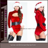 Wholesale Fashion Velvet Christmas Belle Cutout Bodysuit Carnival Costume (7248)