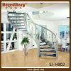 Euro Style Steel Wood Arc Staircase for Indoor (SJ-H902)