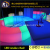 Glowing Lounge Furniture RGB Color Changing LED Chair