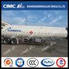 Cimc Huajun 2axle Aluminium Alloy Chemical Liquid Tanker