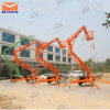12m Trailer Mounted Mobile Hydraulic Cherry Picker Boom Lift for Sale