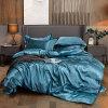 Luxury 4-Piece Satin Silk Bed Sheet Set Bedding Collection/Mulberry Silk Bed Sheet
