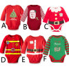 Newborn Baby Kids Christmas Romper Jumpsuit Outfits Costume, Long Sleeved