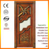 Villa Luxury Carved Solid Wood Glass Door with Design