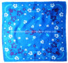 China Factory Produce Custom Design Paisley Print Blue Cotton Scarf