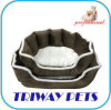 Twill Piping Soft Snuggle Dog Bed