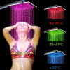 Mutiple Color Hot Sale Square Rainfall LED Shower Head
