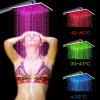 Mutiple Color Hot Sale Square Rainfall LED Shower Head